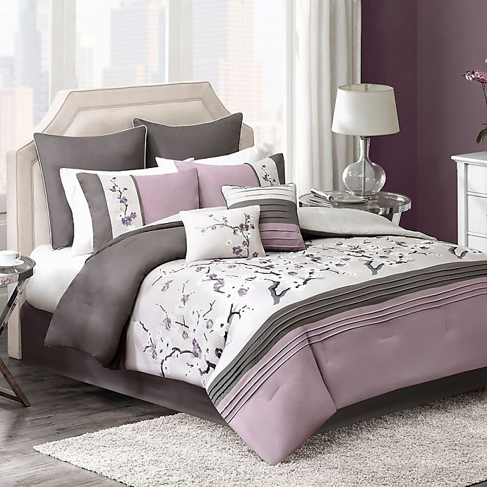 Bed Bath And Beyond Canada: Blossom 8-Piece Comforter Set In Plum