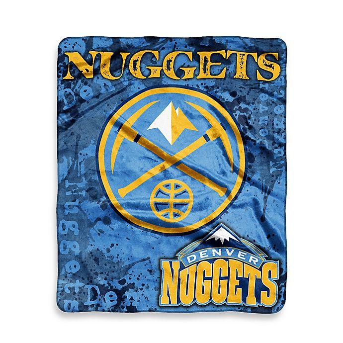 NBA Denver Nuggets Super-Plush Raschel Throw Blanket
