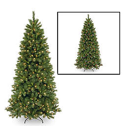 National Tree Company 7.5-Foot Lehigh Valley Pine Pre-Lit Christmas Tree w/Multicolor Lights