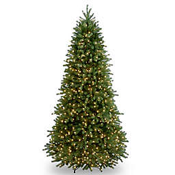 National Tree Company 7.5-Foot Pre-Lit Jersey Fraser Fir Slim Christmas Tree with Clear Lights