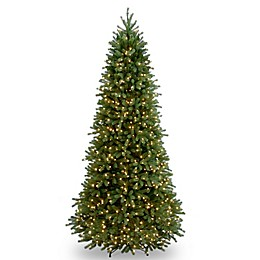National Tree Company Pre-Lit Jersey Fraser Fir Slim Christmas Tree with Clear Lights
