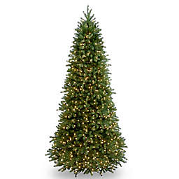 national tree 9 foot jersey fraser fir slim christmas tree pre lit with clear
