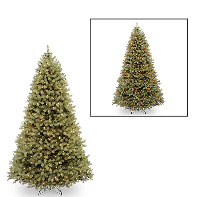 Alternate image 1 for National Tree Company 9-Foot Downswept Douglas Fir Pre-Lit Christmas Tree with Dual Color Lights