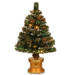 National Tree 32-Inch Fiber Optic Radiance Fireworks Christmas Tree with Multicolor Lights