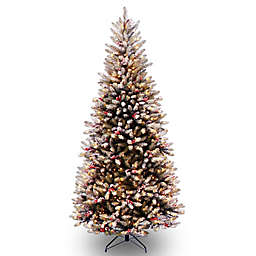 National Tree Slim Dunhill Fir Hinged Christmas Tree with Clear Lights