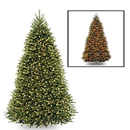 National Tree Company Dunhill Fir Pre-Lit Christmas Tree with Dual Color® Lights