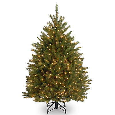 National Tree Company 4.5-Foot Dunhill Fir Pre-Lit Christmas Tree with Clear Lights