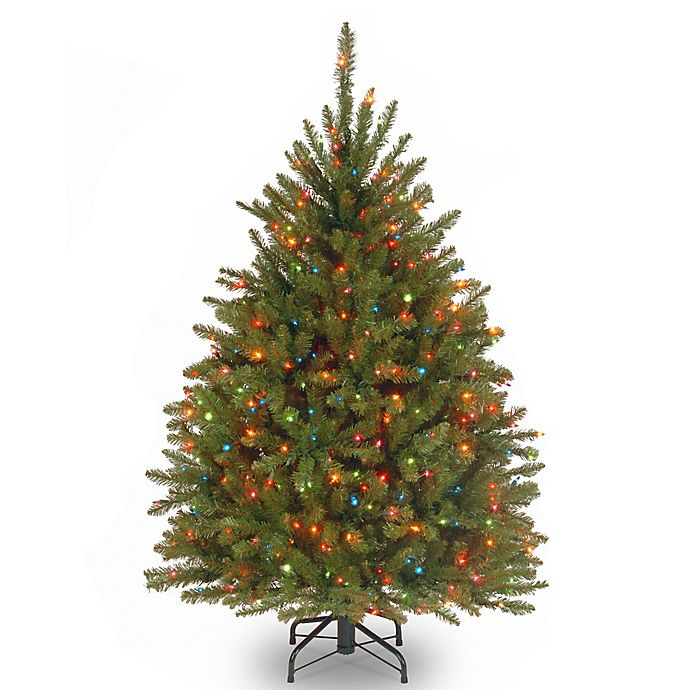 Alternate image 1 for National Tree 4.5-Foot Dunhill Fir Pre-Lit Christmas Tree with Multicolor Lights