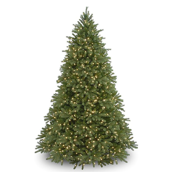 Alternate image 1 for National Tree Company 7.5-Foot Pre-Lit Jersey Fraser Fir Christmas Tree with Clear Lights