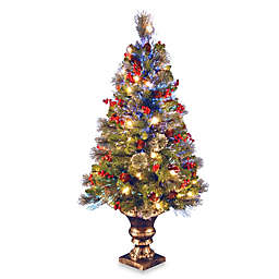 National Tree Company 4-Foot Fiber Optic Fireworks Crestwood Spruce Christmas Tree