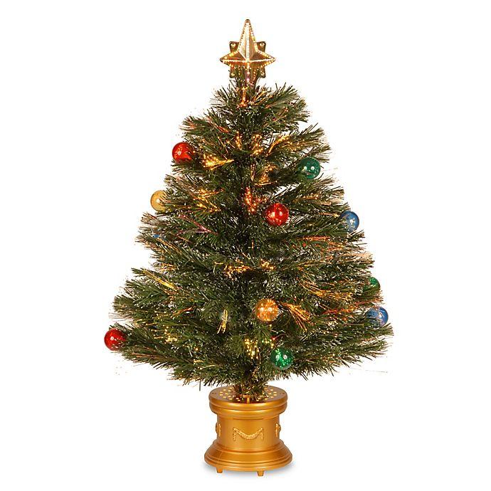 Christmas Tree Fiber Optic Lights: National Tree 32-Inch Fiber Optic Fireworks Christmas Tree