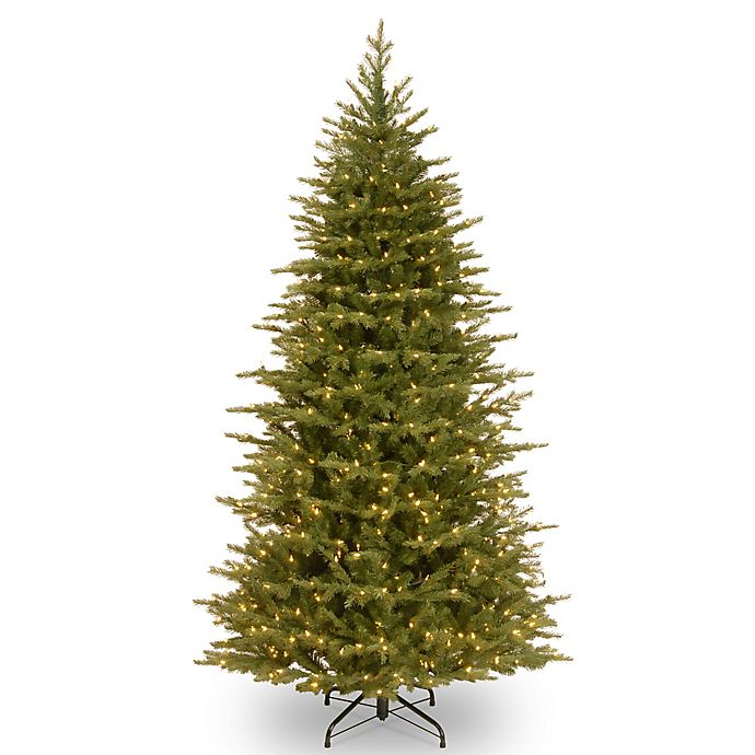 Pre Lit Christmas Tree.National Tree Feel Real 7 5 Foot Nordic Spruce Slim Pre Lit Christmas Tree With Clear Lights