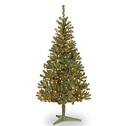 National Tree Canadian Grande Fir Pre-Lit Christmas Tree with Clear Lights