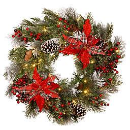 National Tree Company Decorative Collection 24-Inch Tartan Plaid Christmas Wreath