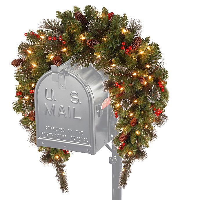Alternate image 1 for National Tree Company Crestwood Spruce 36-Inch Pre-Lit Mailbox Swag