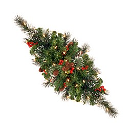 National Tree Company Crestwood Spruce 30-Inch Pre-Lit Centerpiece
