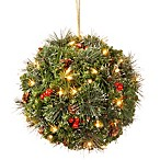 National Tree Company 12-Inch Pre-Lit LED Crestwood Spruce Kissing Ball