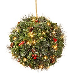National Tree Company Pre-Lit LED Crestwood Spruce Kissing Ball
