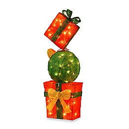 National Tree 32-Inch Sisal Gift Box Tower