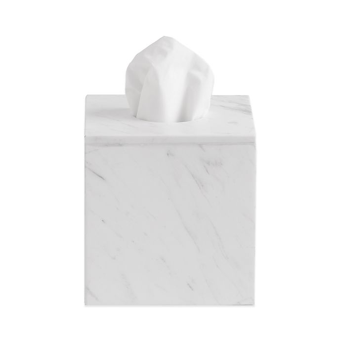 Alternate image 1 for Camarillo Marble Boutique Tissue Box Cover