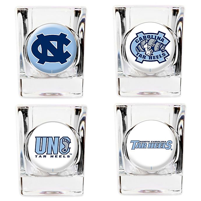 Alternate image 1 for University of North Carolina Shot Glasses (Set of 4)