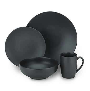 Gibson Home Paradiso Dinnerware Collection in Black