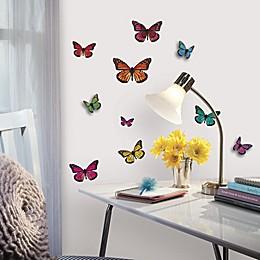 RoomMates 3D Butterflies Peel & Stick Wall Decals