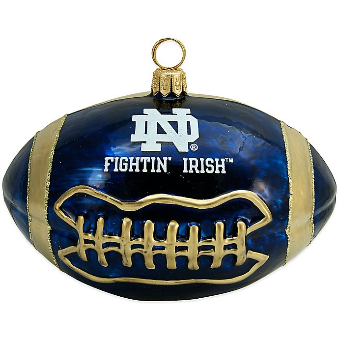 University of Notre Dame Football Christmas Ornament  4657ac3d20461