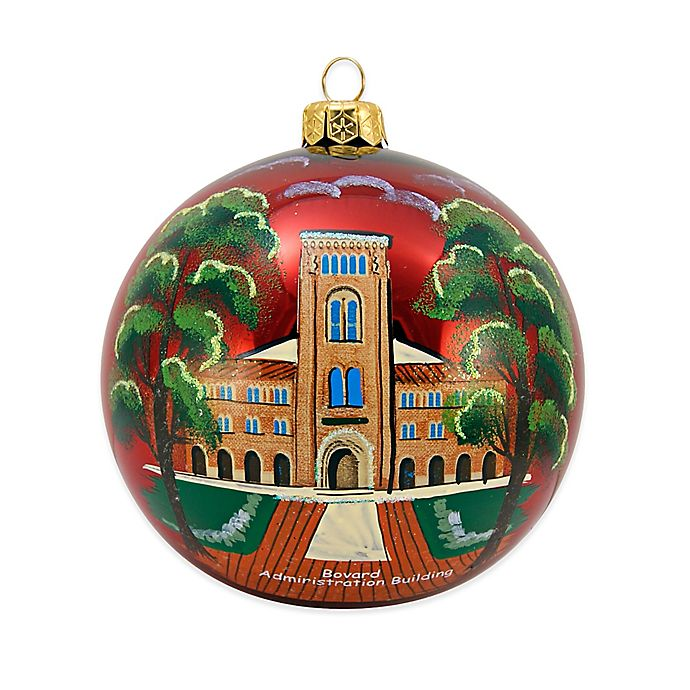 Where To Buy Christmas Decorations Year Round: Buy USC Round Ball Christmas Ornament In Red From Bed Bath