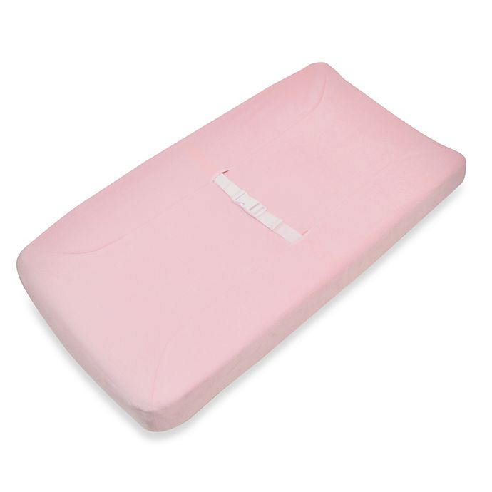 Alternate image 1 for TL Care® Mix & Match Heavenly Soft Chenille Contoured Changing Pad Cover in Pink