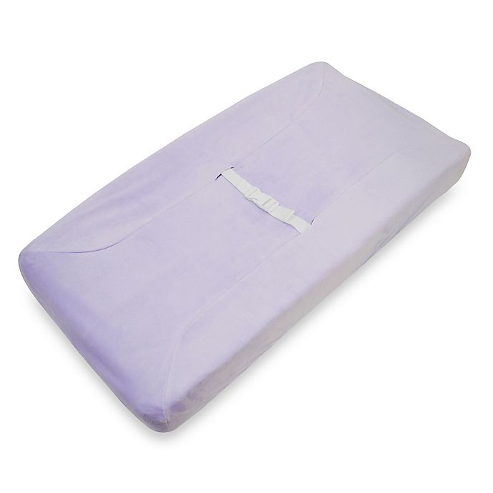 Alternate image 1 for TL Care® Mix & Match Heavenly Soft Chenille Contoured Changing Pad Cover in Lavender