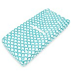 TL Care® Mix & Match Heavenly Soft Chenille Contoured Changing Pad Cover in Aqua Sea Waves