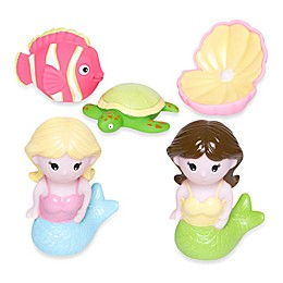 Elegant Baby® Mermaid Party 5-Piece Bath Squirties