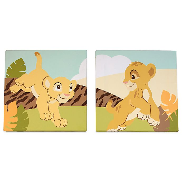 Alternate image 1 for Disney® Lion King 2-Piece Simba Wall Art Set