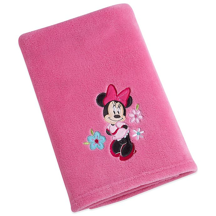 Alternate image 1 for Disney® Minnie Solid Applique Fleece Blanket