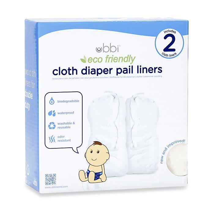 Ubbi® Cloth Diaper Pail Liner Twin Pack | buybuy BABY