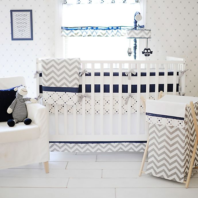 Alternate image 1 for My Baby Sam Out of the Blue 4-Piece Crib Bumper