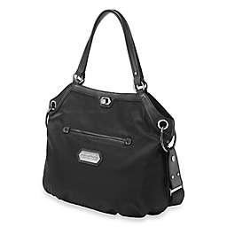 Petunia Pickle Bottom® Cut Velvet Halifax Hobo in Black Chai Cake
