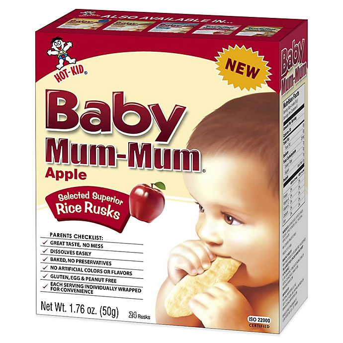 Alternate image 1 for Hot-Kid® 1.76 oz. 24-Count Baby Mum-Mum® Apple Selected Superior Rice Biscuits