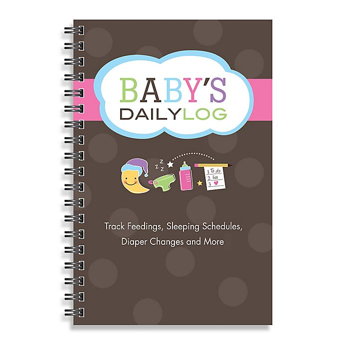 Alternate image 1 for Kahootie Co® Baby's Daily Log Notebook in Brown