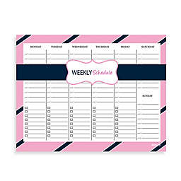 Kahootie Co® Weekly Schedule Notepad in Pink/Blue