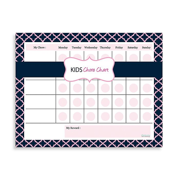 Alternate image 1 for Kahootie Co® Kids Chore Chart Notepad in Pink/Blue