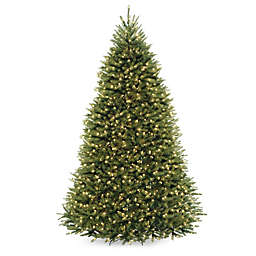 National Tree Company 9-Foot Dunhill Fir Pre-Lit Christmas Tree with Clear Lights