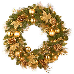 National Tree Company Elegance Battery-Operated 24-Inch Pre-Lit Wreath