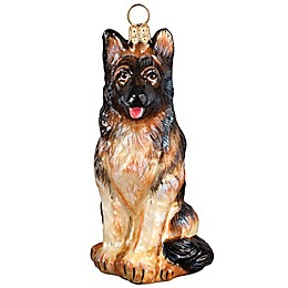 Glitterazzi Joy the World Collectibles German Shepherd Christmas Ornament