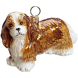 Pet Set Joy the World Collectibles Cavalier King Charles Blenheim Christmas Ornament