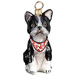 Pet Set Joy to the World Collectibles Boston Terrier with Bandana Christmas Ornament