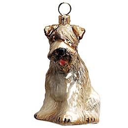 Pet Set Joy to the World Collectibles Soft Coated Wheaten Terrier Christmas Ornament
