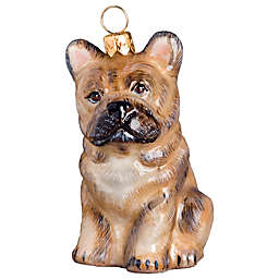 Pet Set Joy to the World Collectibles Cream French Bulldog Christmas Ornament