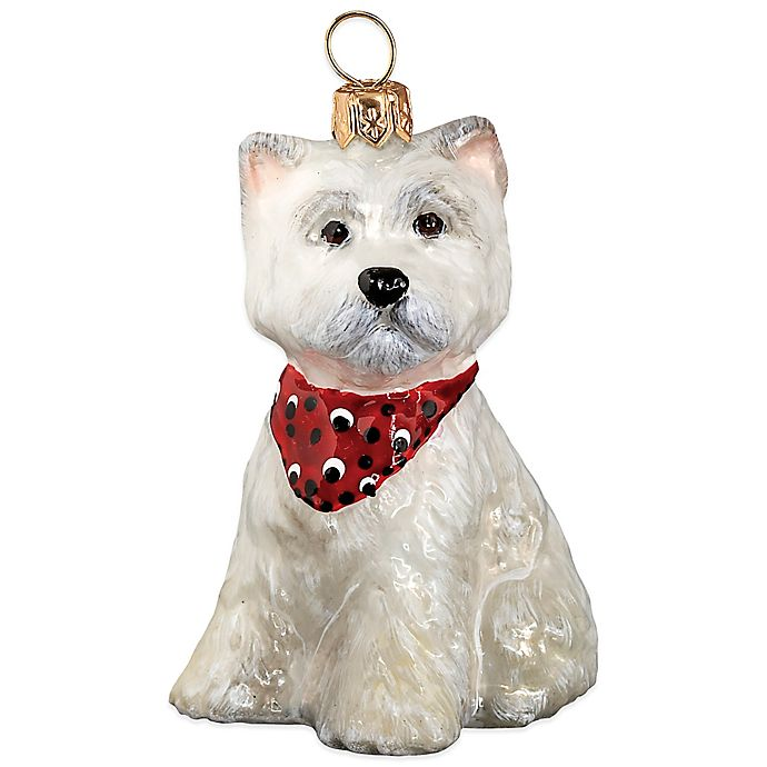 Alternate image 1 for Pet Set Joy to the World Collectibles Westie Puppy with Bandana Christmas Ornament